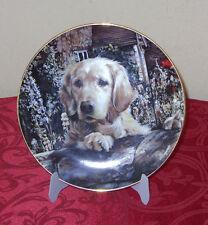 A Golden Welcome-Danbury Mint Collectible Plate-Golden Retriever Dog