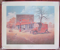 Vtg Austin Texas General Mercantile Folk Art Print BB Barrick Limited Edition