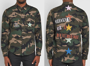 Valentino Jamie Reid Punk Star Military Camouflage Shirt Jacket Army Jacke 50