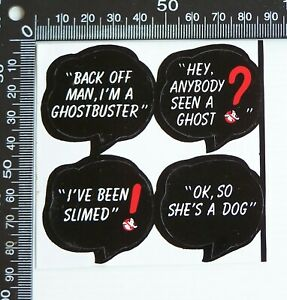 VINTAGE GHOSTBUSTERS SOUVENIR ADVERTISING NOVELTY PROMO STICKER SET of 4