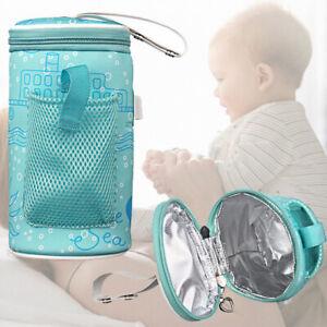Baby Bottle Warmer Travel Feeding Milk Heater Bag USB Thermostat Portable Pouch