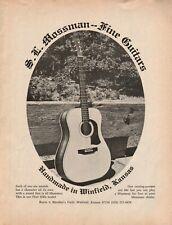1975 Mossman Flint Hills Guitar - Handmade in Winfield, Kansas - Vintage Ad