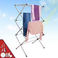 3 Tier Clothes Airer Dryer Large Drying Horse Rack Indoor Outdoor Laundry Stand