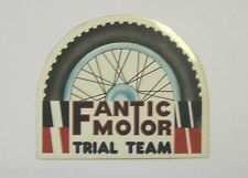 ADESIVO MOTO anni '80 / Old Sticker FANTIC MOTOR TRIAL TEAM (cm 8 x 6)