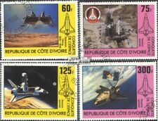 The Ivory Coast 680-683 (complete issue) used 1981 Space