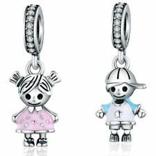 Fashion Enamel Girl Boy Alloy Charms fit European DIY Bracelet & Necklace Making
