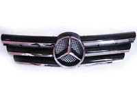 CL Front Grill For 00-08 Mercedes C Class CL203 Coupe - Hood Sport Black Grille