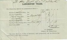 Vintage 1867 Tax Reciept from Langbourn Ward London