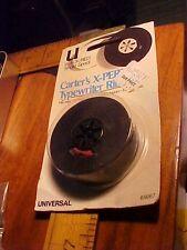 Vtg Typewriter Ribbon Sealed  Carter's Ink Red & Black Universal single spool