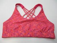 MOSSIMO Women's Size XS Strappy Hot Pink Spacedye Running Sports Bra