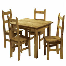 Unbranded Pine Up to 4 Seats Table & Chair Sets