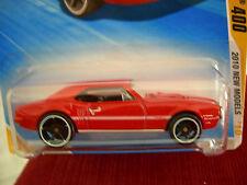 Hot Wheels '67 Pontiac Firebird 400 2010 New Models Red