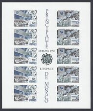 EUROPA CEPT Monaco Block 1991 postfrisch/** (MNH) UNGEZÄHNT/IMPERFORATED