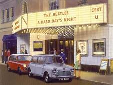 Classic Car Austin Mini The Beatles Hard Day's Night Blank Birthday Card