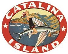 Santa Catalina Island  CA   Vintage 1950's Style California   Travel Decal Label