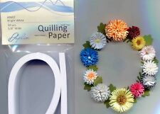 """Quilling Paper 5/8"""" Wide For Fringe Flowers + Borders 50 pc Bright White #3602"""