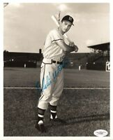 BRAVES Eddie Mathews signed 8x10 photo JSA COA UTO Autographed HOFer (D)
