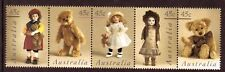 AUSTRALIA 1997 DOLLS AND BEARS STRIP OF 5 UNMOUNTED MINT