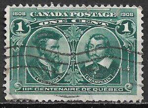 1908 CANADA Used Stamp (Scott # 97) CV $4.50