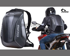 Motorcycle Backpack Carbon Fibre Molded Hardshell Laptop Bag Low Air Resistance