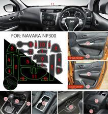 fit Nissan Navara NP300 D23 2015-17 Non-slip Inner Gate Slot Mat Cup Pads-White