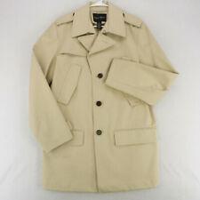 KENNETH ROBERTS PLATINUM Beige Khaki Rain Coat Overcoat Long Jacket Men's Medium