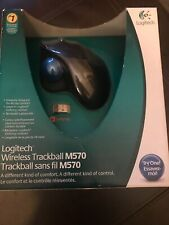 LOGITECH M570 Wireless Trackball Mouse, USB For PC & MAC - NEW IN BOX