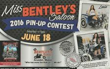 2016 Miss Bentley's Saloon Motorcycle Pin-Up Girl Contest info card