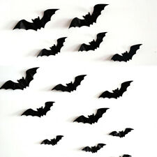 16PC 3D Black Bat Wall Stickers Home Party Halloween Vinyl Decal Decor Removable