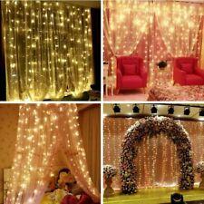 Cortina de Luces de Hadas interior al aire libre del LED Boda Fiesta Navidad Decoración de telón de fondo