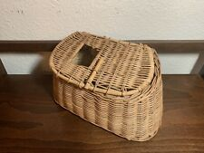 Vintage Wicker Fly Fishing Trout Creel Basket
