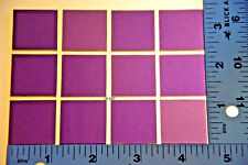 "1128.50 - 12 THIN DEEP ROYAL PURPLE 1"" x 1"" BULLSEYE GLASS 90 COE"