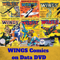 WINGS Golden Age Comics - 124 Rare Vintage PDF Fiction House e-Comics on DVD