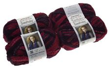 Red Heart Yarn Lot 4 Skeins Balls Boutique Sashay Tango Maroon Acrylic Metallic