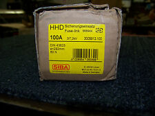 SIBA High Voltage Fuse-Link HV-Back-Up Fuse 100A Made in Germany DIN 43625 New