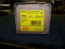 SIBA High Voltage Fuse-Link HV-Back-Up Fuse 100A Made in Germany DIN 43625 New
