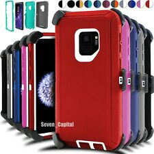For Samsung Galaxy S9 S9+ Shockproof Case Cover Belt Clip Fits Otterbox Defender