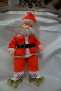 Vintage Roller Skating Santa Clause Animated Christmas Battery Operated