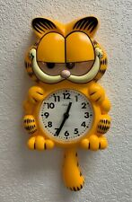 garfield clock pendulum sunbeam original working vintage clock