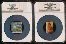 +Wow+ Colorized $2 Silvers (Pf70 & Ms70) 2012 Icon Virgin & 2014 Lamb Of God >Nr