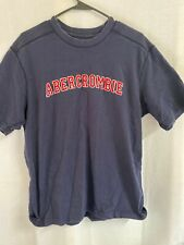 Vintage Men's Abercrombie & Fitch T Shirt Size Large Embroidered Blue Red Logo