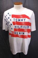 b8cccd31 Mens Tommy Hilfiger Flag T-shirt XL Short Sleeve Stars Stripes Red White  Blue