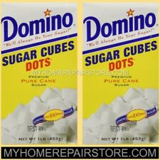 FREE PRIORITY S&H! 2 BOX OF DOMINO DOTS SUGAR CUBES 4 COFFEE,TEA & KEURIG K CUPS