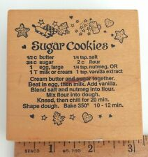 Rubber Stamp Christmas Sugar Cookie Recipe PSX G-1150 Xmas Holidays Baking Craft
