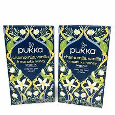 Pukka Organic Chamomile Vanilla & Manuka Honey Herbal Tea 2 Packs (40 Sachets)