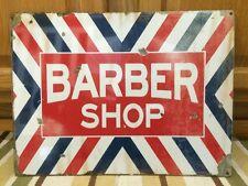 BARBER SHOP Metal Decor Shave Oster Clipper Hair Salon Polish Vintage Style 4