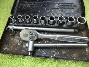 Vintage Craftsman V Series Socket Set 1/4 Drive  =V= set in Clamshell  Box