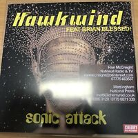 "HAWKWIND FT BRIAN BLESSED ""SONIC ATTACK"" RARE UK 1 TRACK CD PROMO"