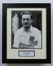FRAMED Sir Tom Finney England Preston SIGNED Autograph Photo Mount + COA Proof