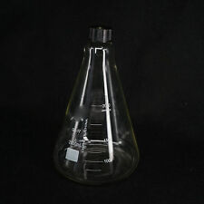 Glass 2000ml Conical Erlenmeyer Narrow Mouth Screw Cap Flask Lab Glassware